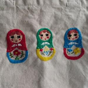 マトリョーシカ刺繍