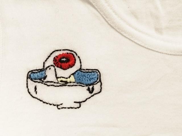 目玉おやじ刺繍のシャツ