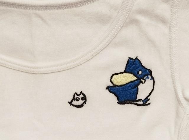 トトロ刺繍のオリジナルシャツ